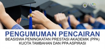 Pengumuman Pencairan Beasiswa PPA Kuota Tambahan dan Aspirasi Tahun Anggaran 2017