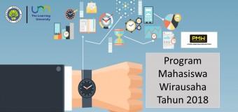Panduan Program Mahasiswa Wirausaha (PMW) UM 2018