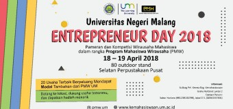 Entrepreneur Day 2018 dalam rangka Program Mahasiswa Wirausaha (PMW)