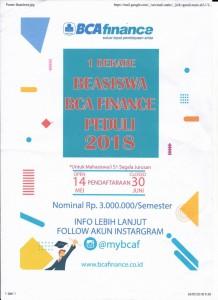 Beasiswa BCA Finance 2018