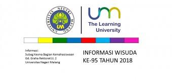 Pengumuman Pelaksanaan dan Penutupan Pendaftaran Wisuda ke-95 Tahun 2018