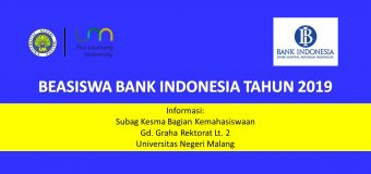 Beasiswa Bank Indonesia 2019