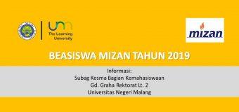Beasiswa Mizan Tahun 2019