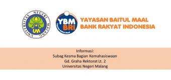 Penerima YBM BRI Smart Scholarship Universitas Negeri Malang